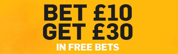 Betfair Bet £10 Get £30