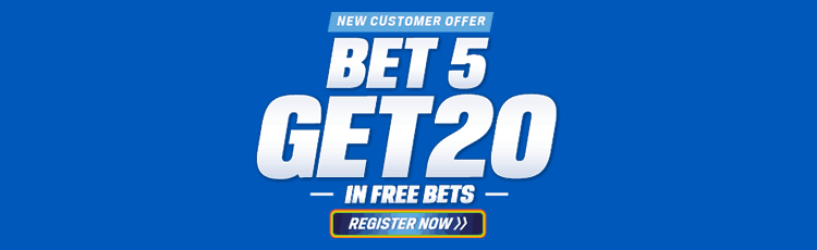 Coral Bet £5 Get £20 Free Bet Sign Up Offer