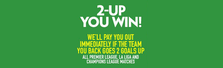Paddy Power 2 Up You Win Offer