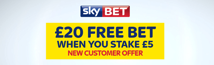 Sky Bet Bet £5 Get £20 In Free Bets Sign Up Offer
