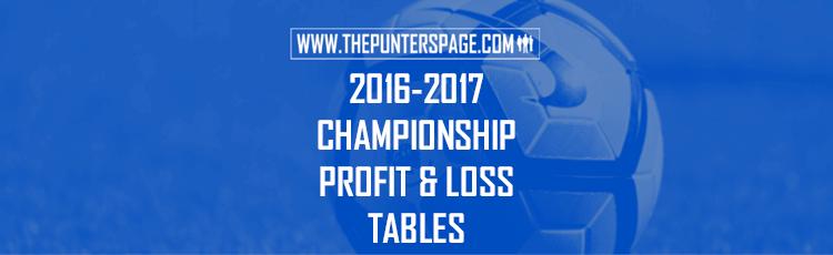 2016-2017 Championsip Profit & Loss League Tables