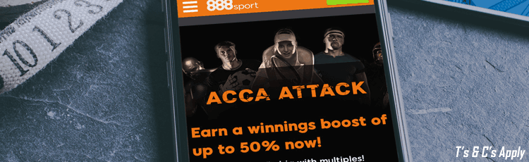 888Sport Acca Attack Offer