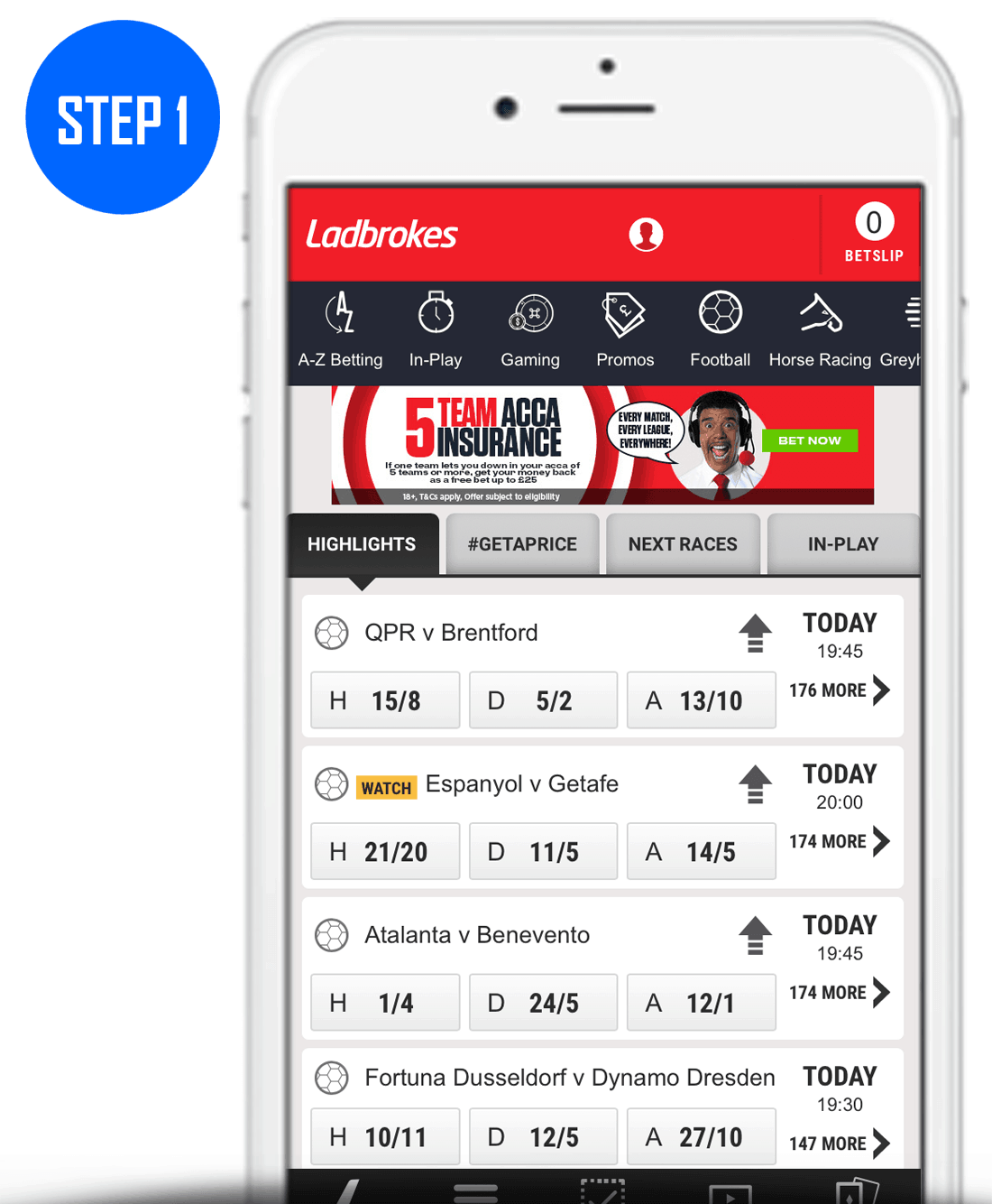 How To Claim Your Ladbrokes Grid Card Step 1
