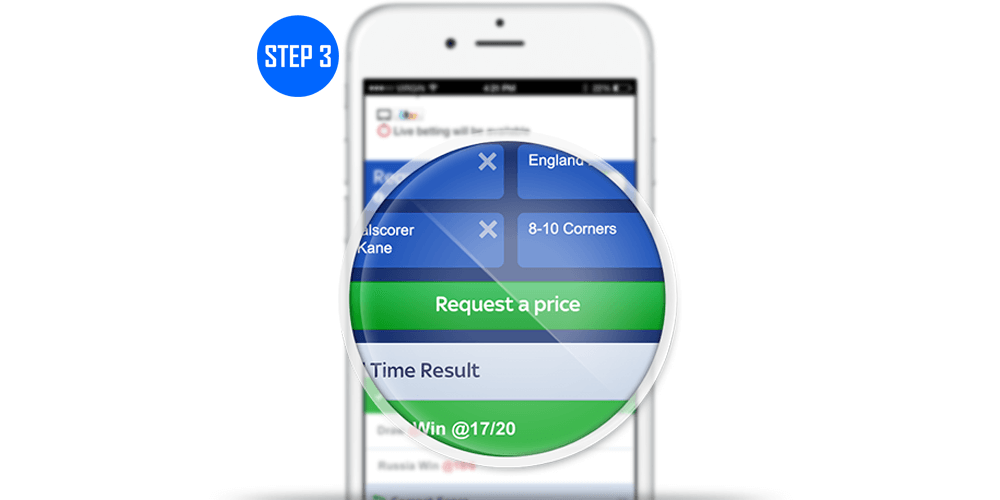 How To Request-A-Bet Step 3