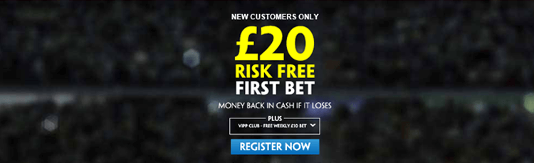 Paddy Power £20 Free Bet Sign Up Offer