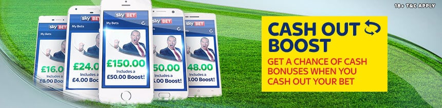 Sky Bet Cash Out Boost