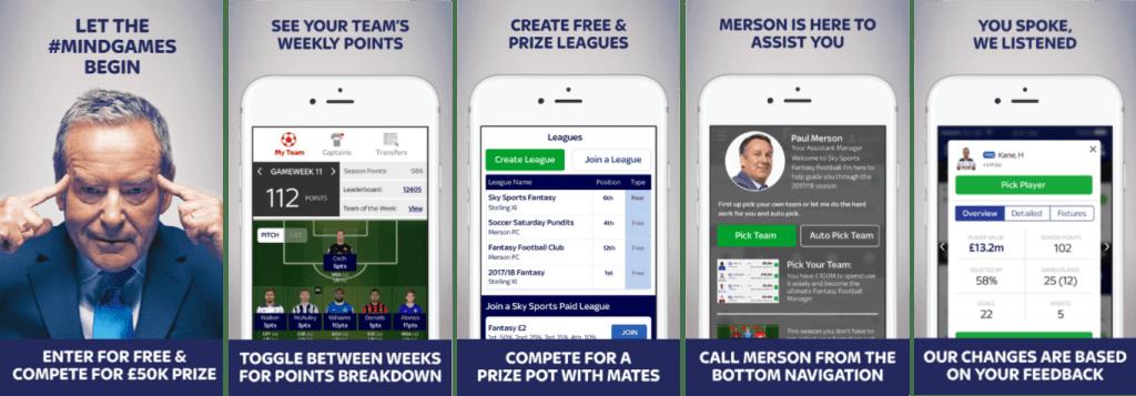 Sky Sports Fantasy Football Mobile App