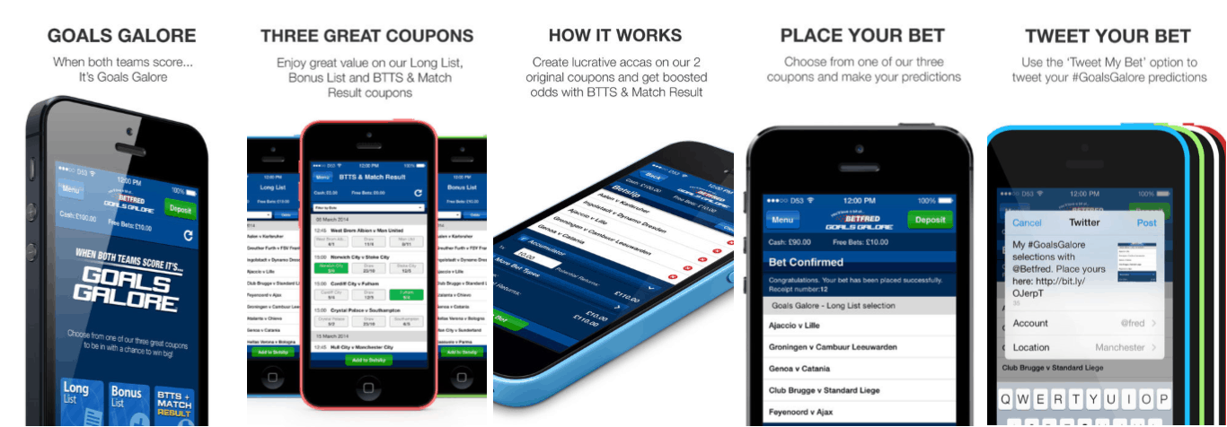 Betfred Goals Galore Mobile App