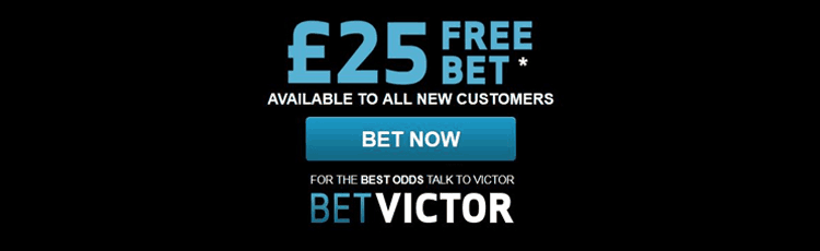 BetVictor £25 Matched Free Bet
