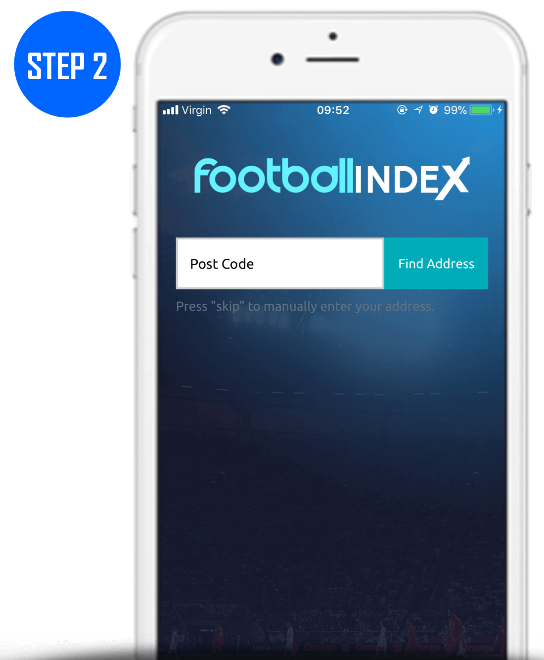 Football Index Sign Up Process Step 2