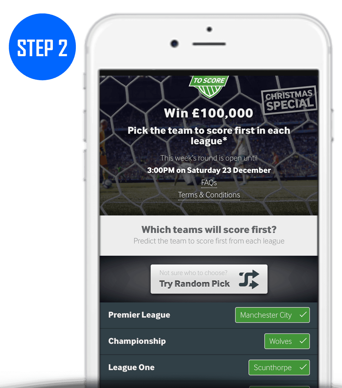 How To Play Betway 4 To Score Step 2