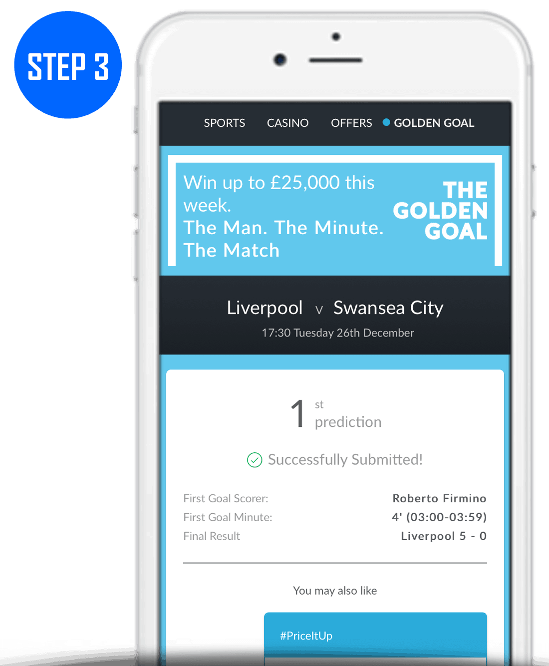 Step 3 How To Play BetVictor Golden Goal