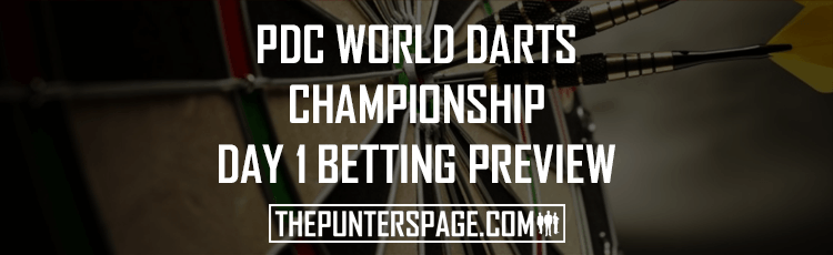 2018 PDC World Darts Championship Day 1 Betting Preview