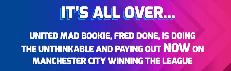Betfred Latest Bookmaker To Pay Out Early On Man City Winning Title