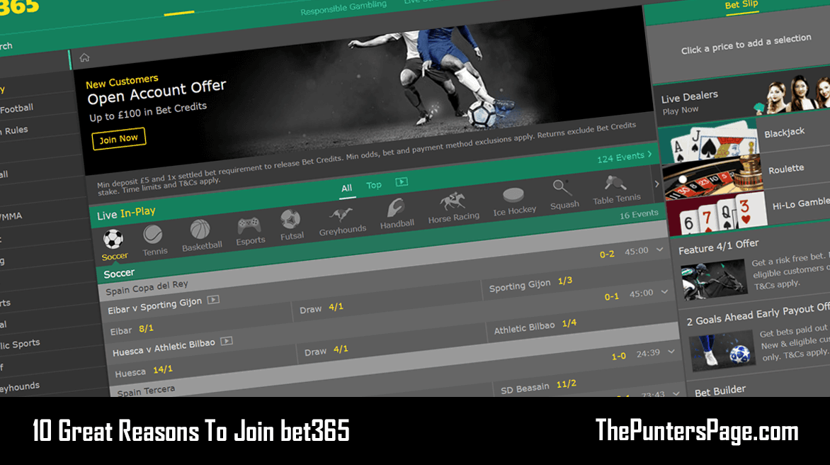 10 Great Reasons To Join bet365
