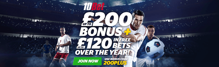 10Bet Deposit Bonus Free Bet Sign Up Offer