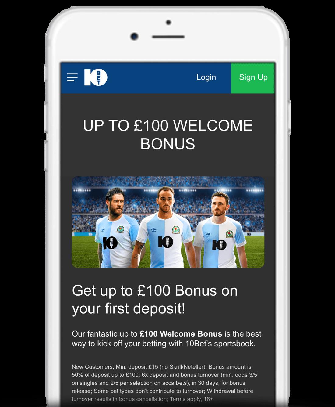 10Bet Mobile App Bonus