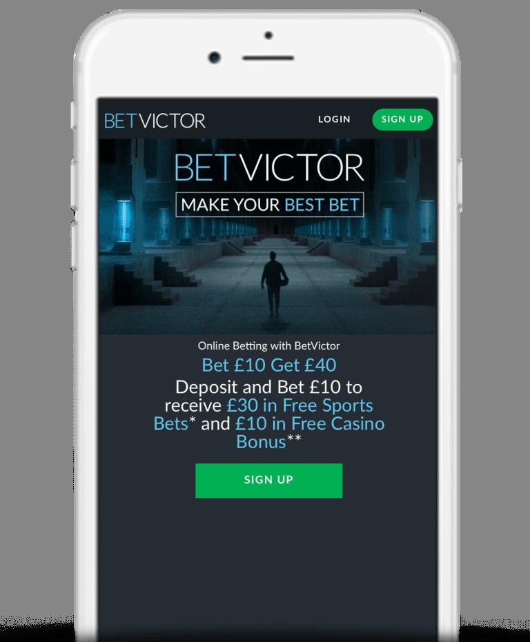 BetVictor Mobile App Bonus