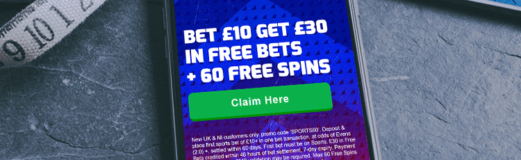 Betfred Bet £10 Get £30 Free Bet Sign Up Offer