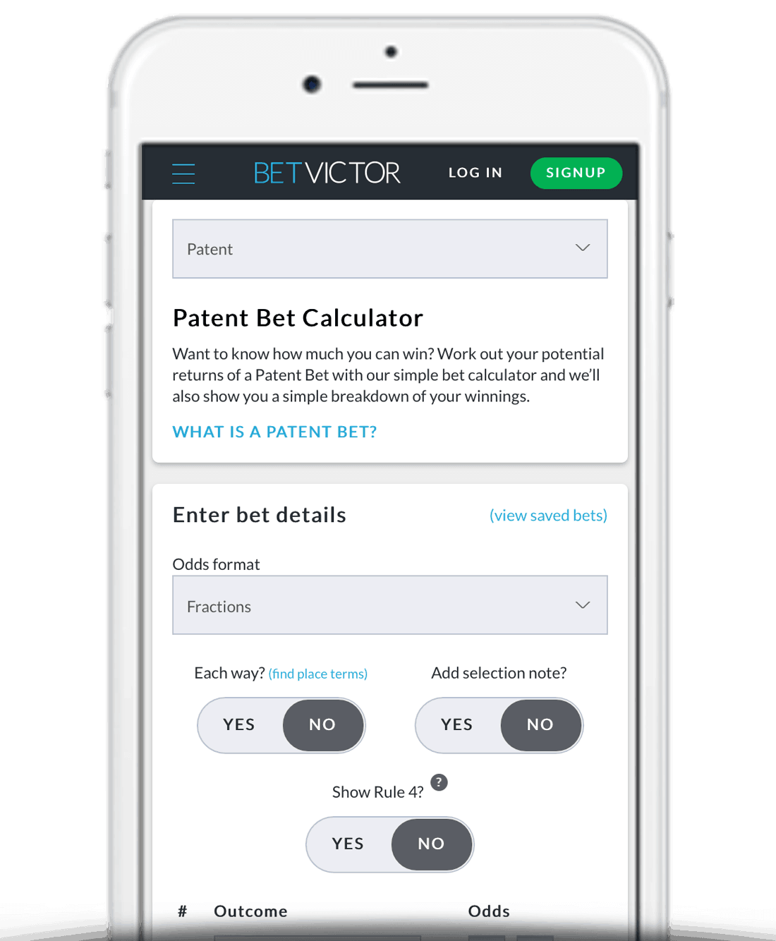 Patent Bet Calculator