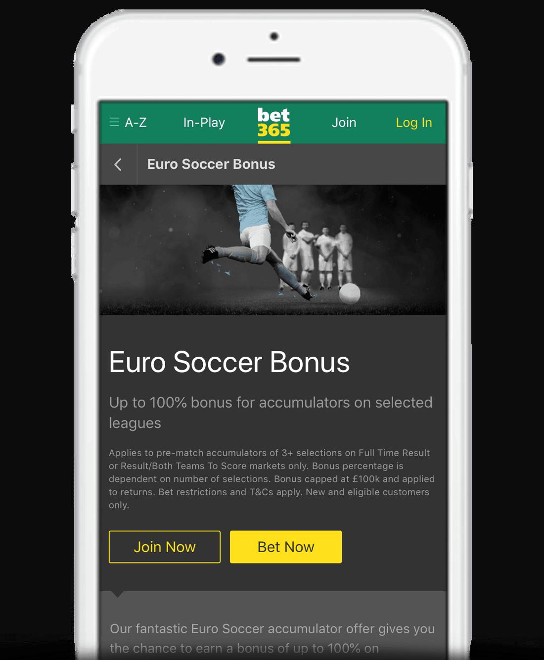 What Is The bet365 Euro Soccer Bonus?