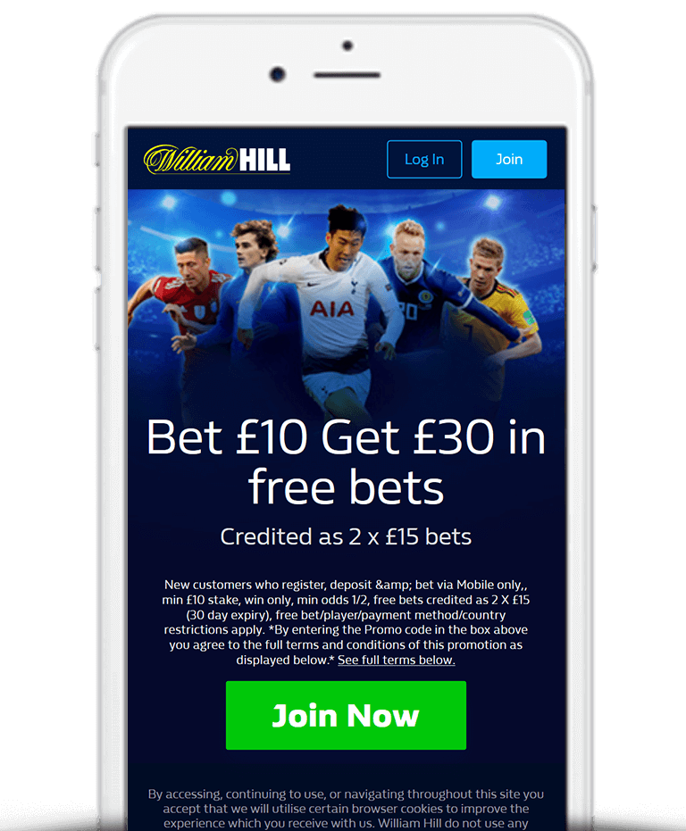 William Hill Mobile App Bonus