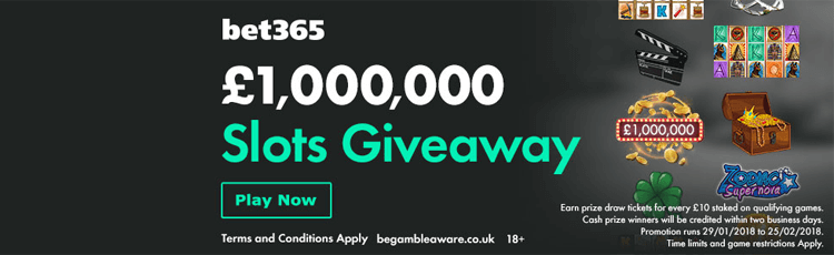 bet365 Million Pound Slots Giveaway