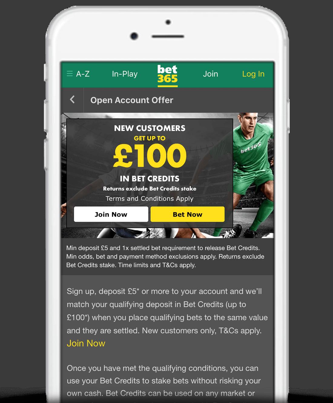 bet365 Mobile App Bonus