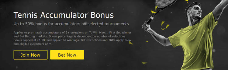 bet365 Tennis Accumulator Bonus Offer Explained