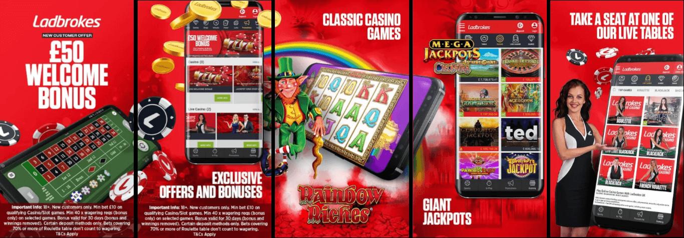 Ladbrokes Casino & Games Mobile App