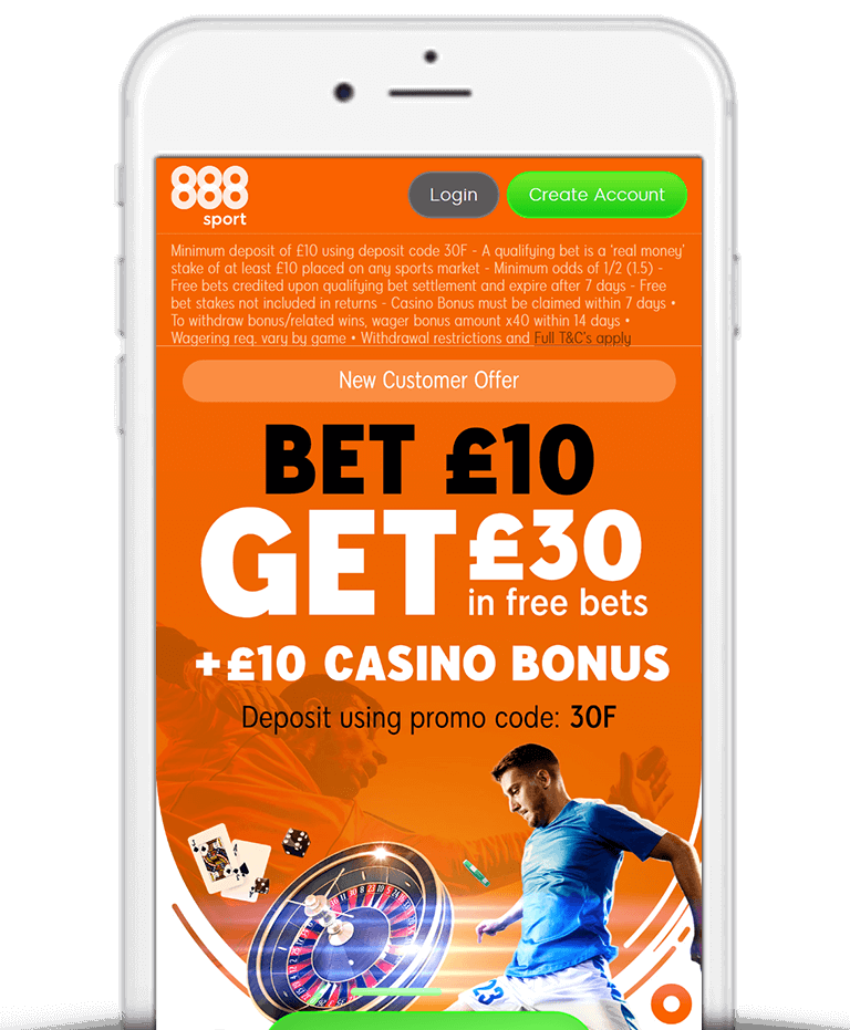 What Is The 888Sport Bet £10 Get £30 Free Bet Sign Up Offer?