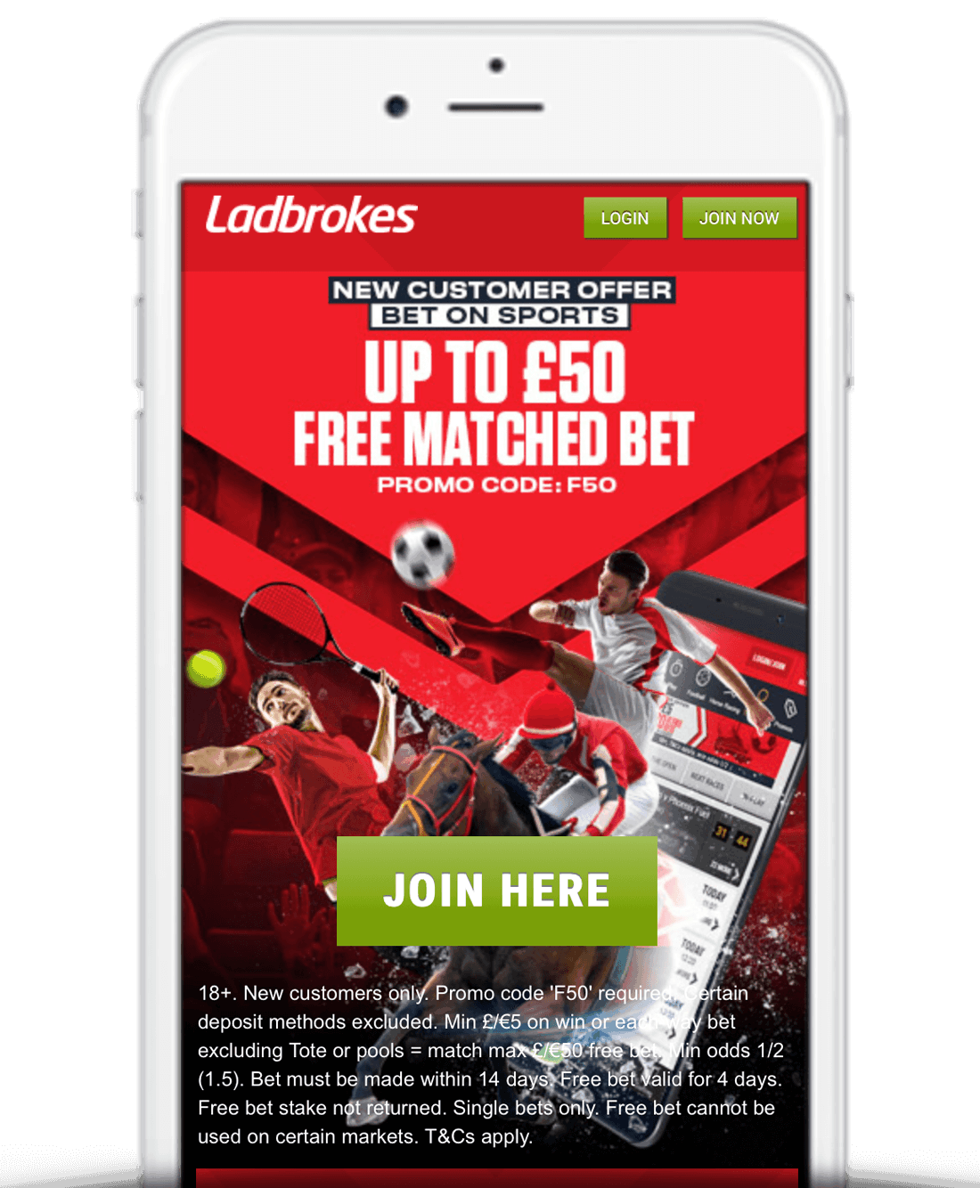 What Is The Ladbrokes £50 Free Bet Sign Up Offer?