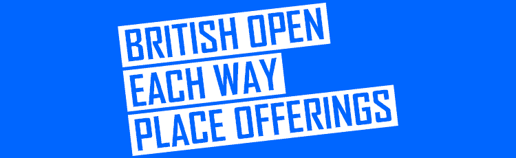 British Open Each Way Place Offerings By Bookmaker