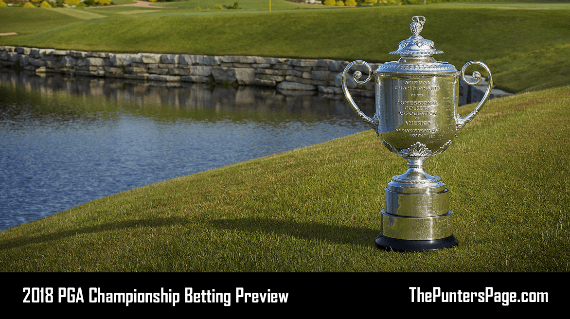 2018 PGA Championship Betting Preview & Tips
