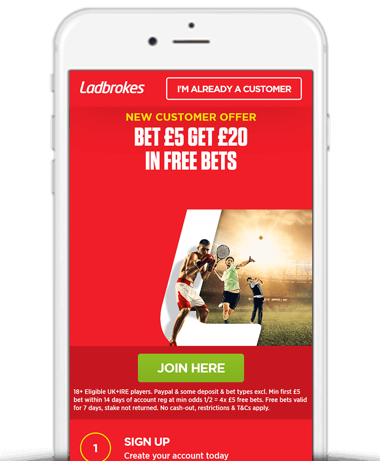 What Is The Ladbrokes Bet £5 Get £20 Free Bet Sign Up Offer