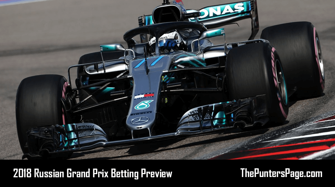 2018 Russian Grand Prix Betting Preview, Odds & Tips