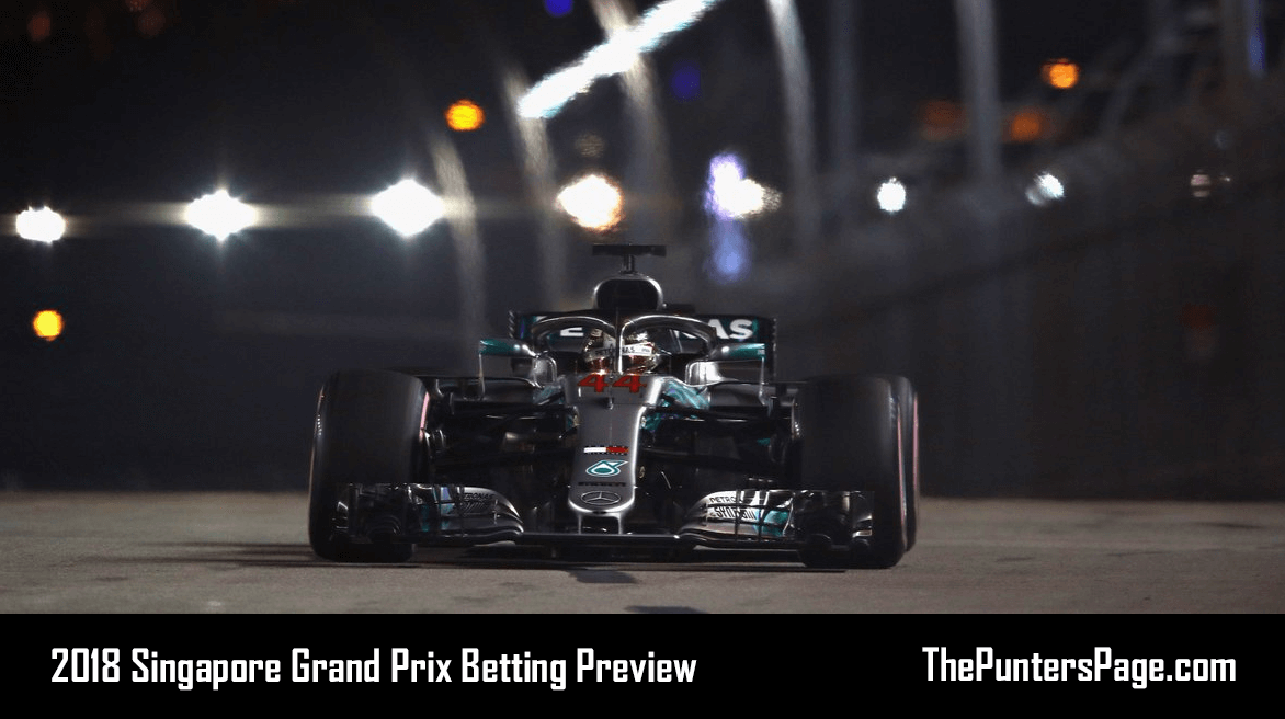 2018 Singapore Grand Prix Betting Preview, Odds & Tips