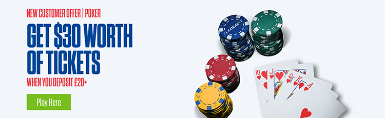 Coral Poker Promotion Code £20