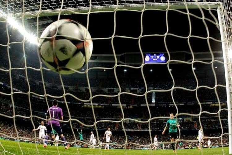 A Goal is Scored Past Iker Casillas in a Champions League Match between Real Madrid and Schalke in the 2013/14 Season.