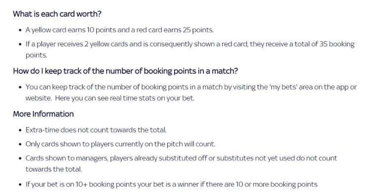 Cards & Booking Points Football Betting Guide & Stats