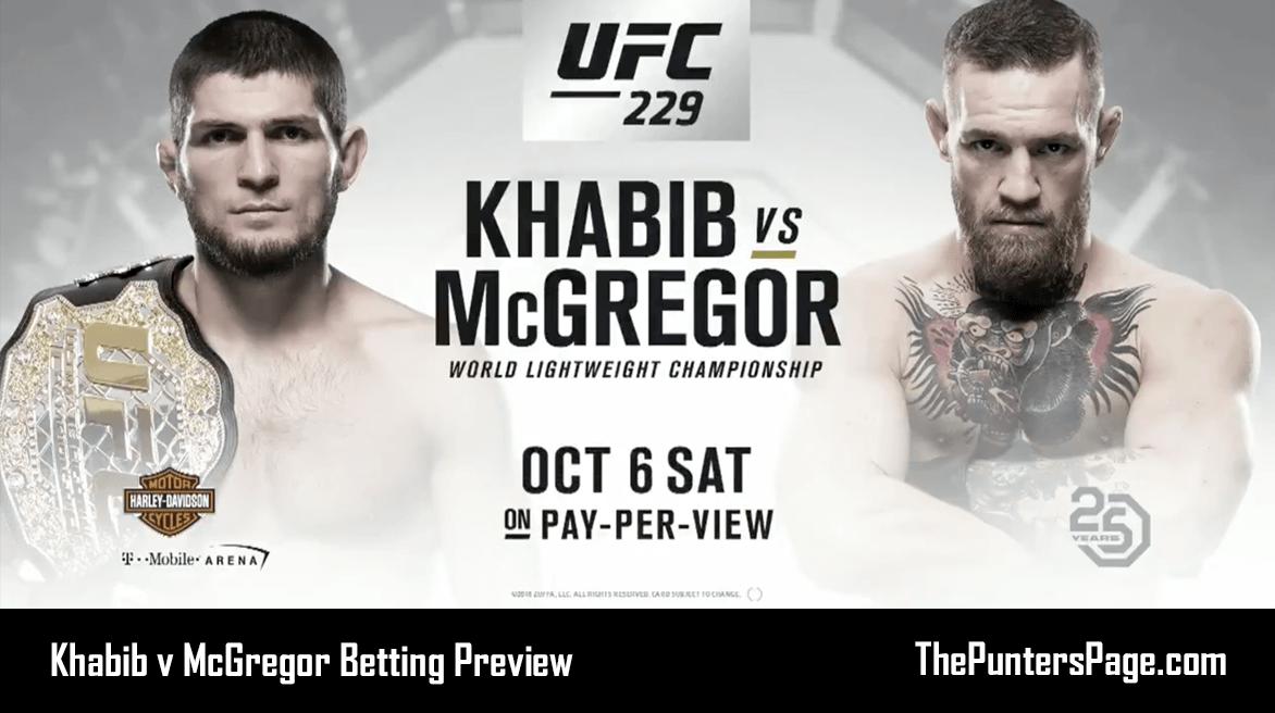 Khabib v McGregor Betting Preview, Odds & Tips