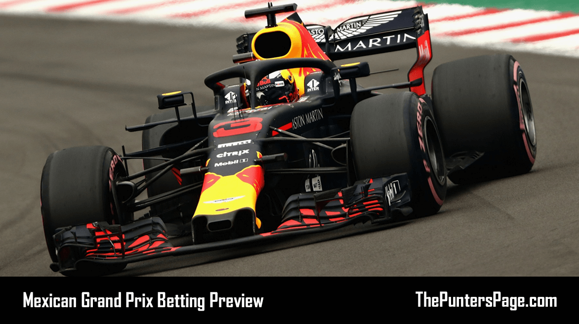 Mexican Grand Prix Betting Preview, Odds & Tips