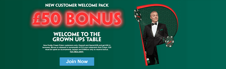 Paddy Power Poker Promotion Code