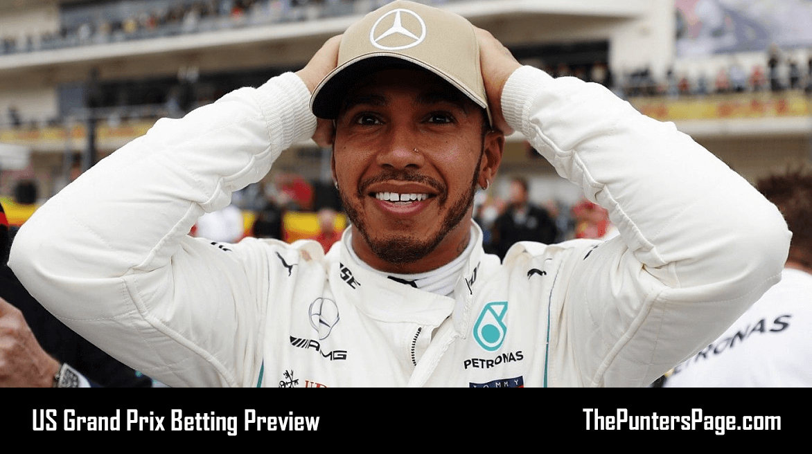 US Grand Prix Betting Preview, Odds And Tips