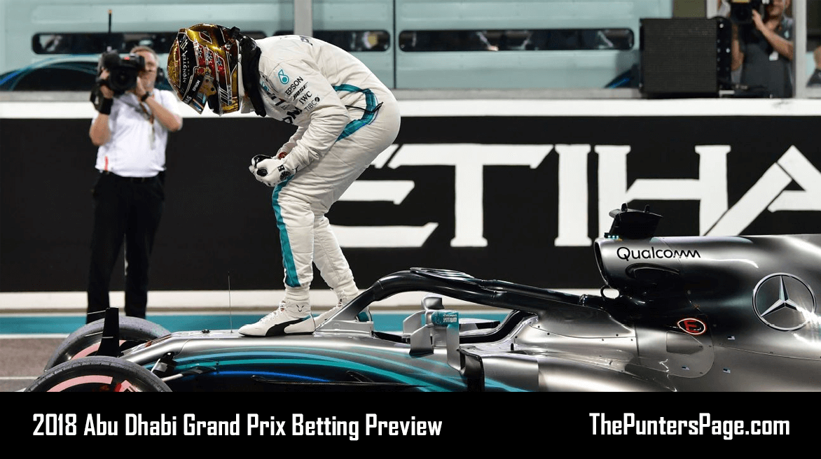 2018 Abu Dhabi Grand Prix Betting Preview, Odds & Tips