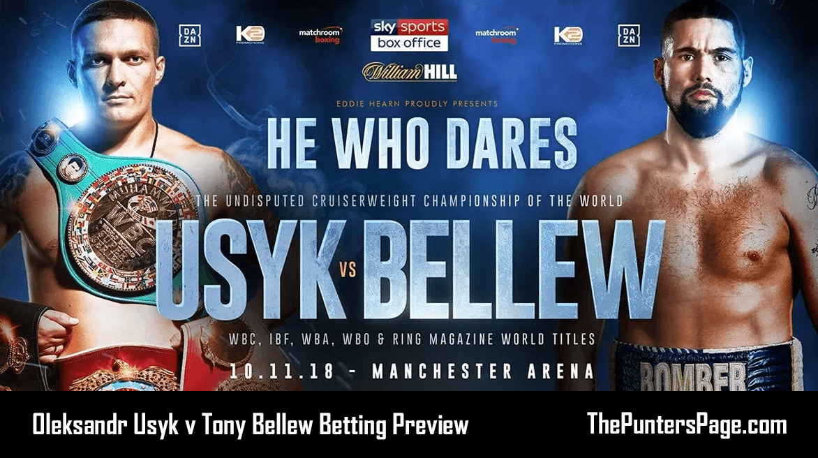 Oleksandr Usyk v Tony Bellew Betting Preview, Odds & Tips