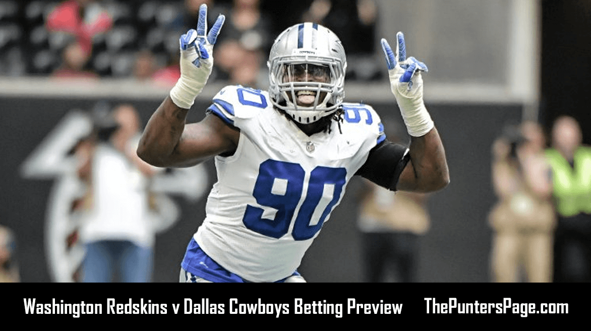 Redskins v Cowboys Betting Preview, Odds & Tips