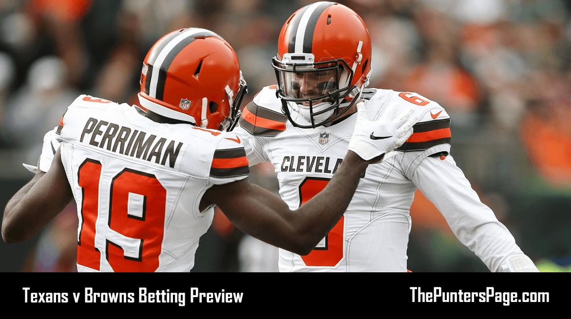 Texans v Browns Betting Preview, Odds & Tips