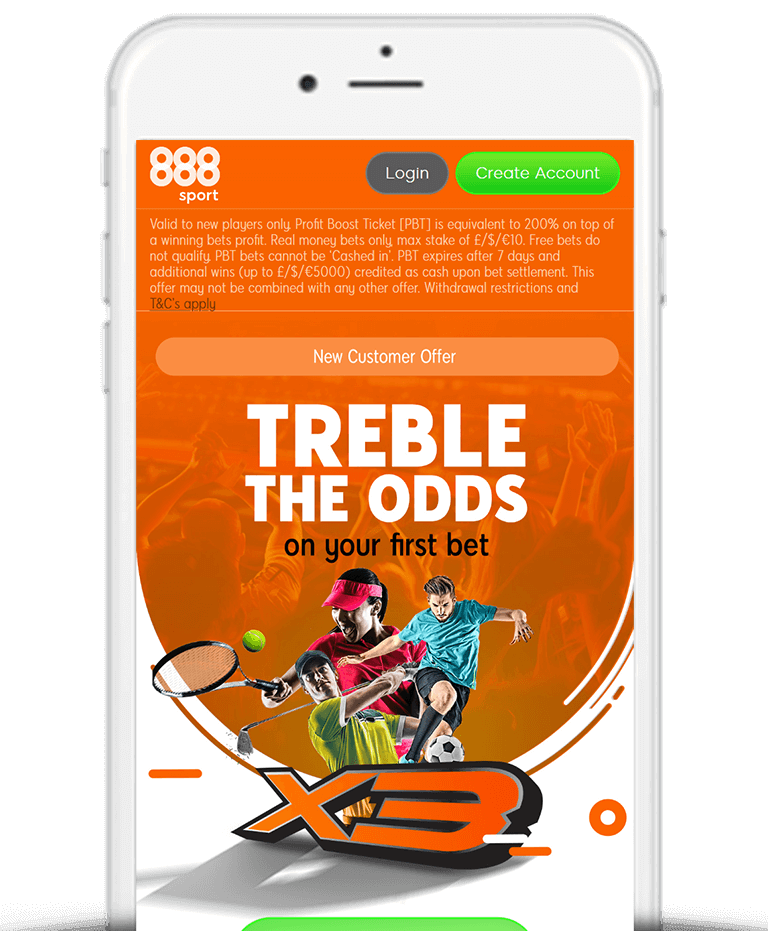 What Is The 888Sport Treble Odds Offer?