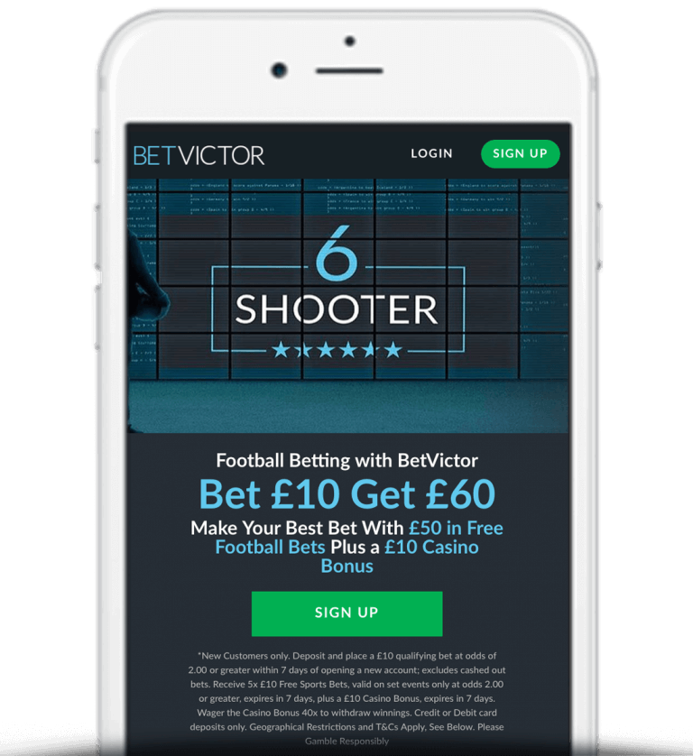 What Is The BetVictor Bet £10 Get £60 Offer?